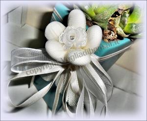 Bomboniera con confetti per matrimonio