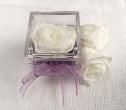 Bomboniera con rose bianche